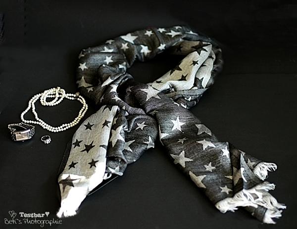 Doubleface-Schal - Hübscher Schal mit Sternen